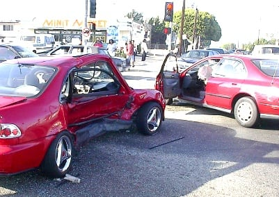 Car Accident at Red Light